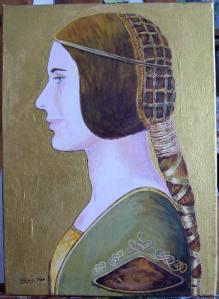 La Bella Principessa de Leonardo Da Vinci con el rostro modificado.